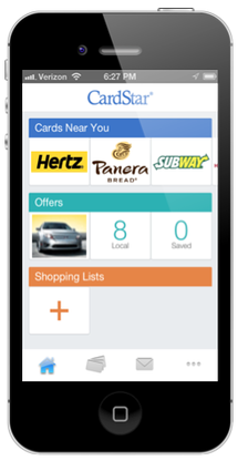 Cardstar geofencing for mobile apps