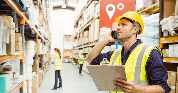 Warehouse using asset tracking to improve optimization